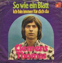 Cover Clemens Thomas - So wie ein Blatt