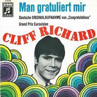 Cover Cliff Richard - Man gratuliert mir