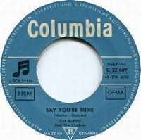 Cover Cliff Richard + The Shadows - Say You're Mine