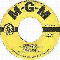 Cover Connie Francis - Forgetting