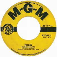 Cover Connie Francis - Freddy