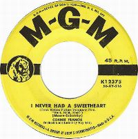 Cover Connie Francis - I Never Had A Sweetheart
