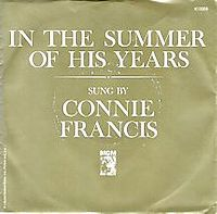 Cover Connie Francis - In The Summer Of His Years