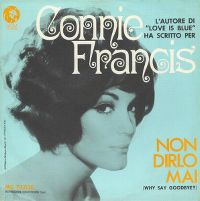 Cover Connie Francis - Non dirlo mai
