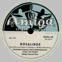 Cover Cornel-Trio / Kurt Henkels und das Tanzorchester Leipzig des Staatlichen Rundfunkkomitees - Rosalinde