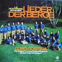 Cover Coro Cortina - Lieder der Berge