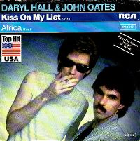 Cover Daryl Hall & John Oates - Kiss On My List