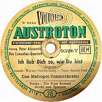 Cover Das Metropol-Tanzorchester / Peter Alexander / Das Comedien-Quartett - Ich lieb Dich so, wie Du bist