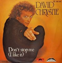Cover David Christie - Don't Stop Me (I Like It)