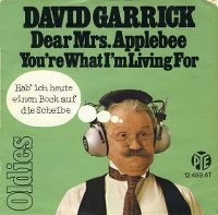 Cover David Garrick - Dear Mrs. Applebee