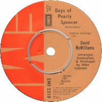 Cover David McWilliams - Days Of Pearly Spencer