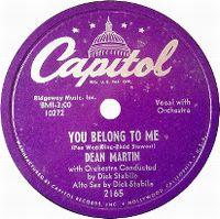 Cover Dean Martin - You Belong To Me