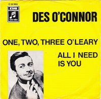 Cover Des O'Connor - One, Two, Three O'Leary