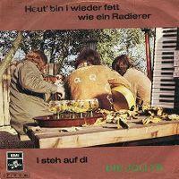 Cover Die Jollys - Heut' bin i wieder fett wie ein Radierer