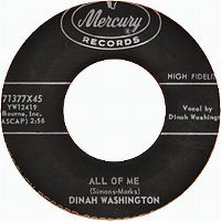 Cover Dinah Washington - All Of Me