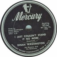 Cover Dinah Washington - I Just Couldn't Stand It No More