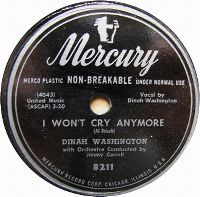 Cover Dinah Washington - I Won't Cry Anymore