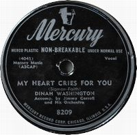 Cover Dinah Washington - My Heart Cries For You