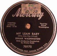 Cover Dinah Washington - My Lean Baby