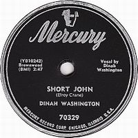 Cover Dinah Washington - Short John