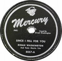 Cover Dinah Washington - Since I Fell For You