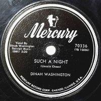 Cover Dinah Washington - Such A Night