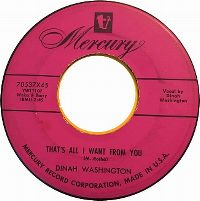 Cover Dinah Washington - That's All I Want From You