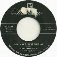 Cover Dinah Washington - You Might Have Told Me