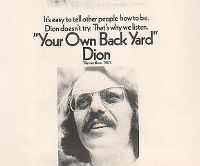 Cover Dion - Your Own Back Yard