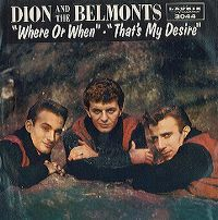 Cover Dion & The Belmonts - Where Or When