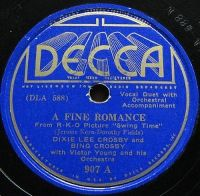Cover Dixie Lee Crosby And Bing Crosby With Victor Young And His Orchestra - A Fine Romance