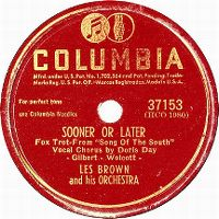 Cover Doris Day / Les Brown And His Orchestra - Sooner Or Later