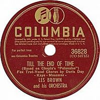 Cover Doris Day / Les Brown And His Orchestra - Till The End Of Time