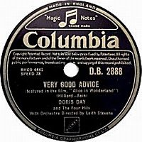 Cover Doris Day & The Four Hits - Very Good Advice