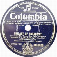 Cover Doris Day with Harry James And His Orchestra - Lullaby Of Broadway
