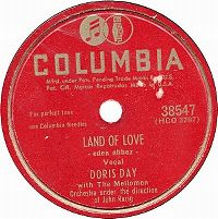 Cover Doris Day with The Mellomen - Land Of Love (Come My Love And Live With Me)