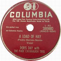 Cover Doris Day with The Page Cavanaugh Trio - A Load Of Hay