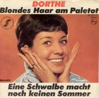 Cover Dorthe - Blondes Haar am Paletot