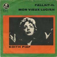 Cover Edith Piaf - Fallait-il