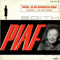 Cover Edith Piaf - Non, je ne regrette rien