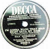 Cover Ella Fitzgerald with Gordon Jenkins & His Orchestra - I'm Gonna Wash That Man Right Outa My Hair