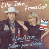 Cover Elton John & France Gall - Les aveux