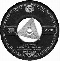 Cover Elvis Presley - I Want You, I Need You, I Love You