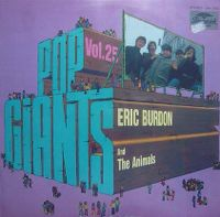 Cover Eric Burdon & The Animals - Pop Giants, Vol. 25