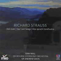 Cover Erin Wall / Melbourne Symphony Orchestra / Sir Andrew Davis - Richard Strauss