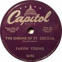 Cover Faron Young - The Shrine Of Saint Cecelia