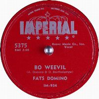 Cover Fats Domino - Bo Weevil