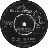 Cover Fats Domino - Why Don't You Do Right