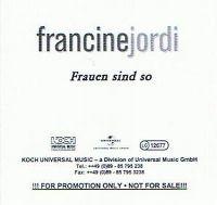 Cover Francine Jordi - Frauen sind so