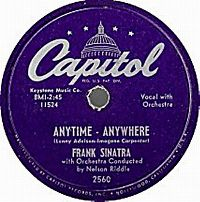 Cover Frank Sinatra - Anytime-Anywhere